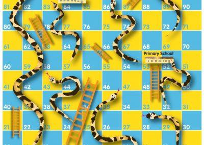 GCE | Lesspel 'Slangen en Ladders'