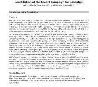 GCE 2015 | Constitution