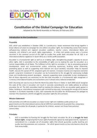 GCE 2015   Constitution